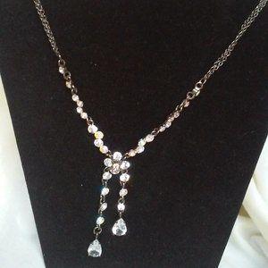 Beaded Faux Diamond Necklace